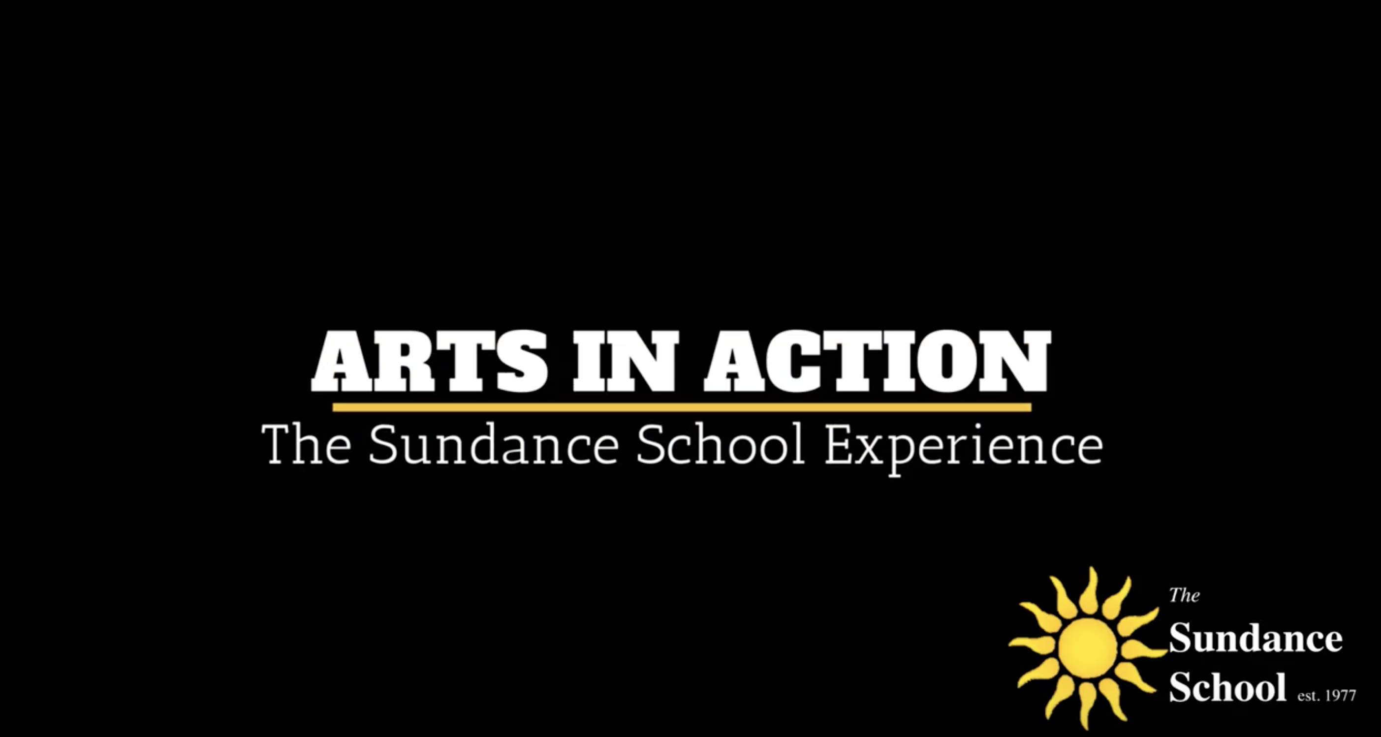 The Sundance School Experience - ARTS in Action VLOG